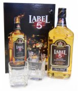 WHISKY LABEL 5 0,7L+2 CASE