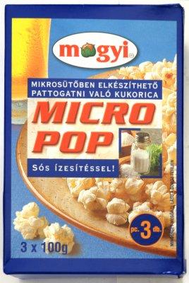 KOKICE MICRO POP CORN SLANE 3x100G MOGYI