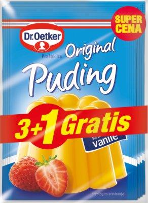 PUDING VANILA 3+1 GRATIS 152G DR.OETKER