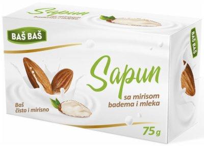 SAPUN BADEM I MLEKO BAS BAS 75G