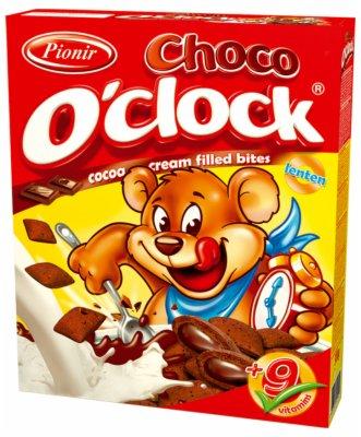 CORN FLAKES CHOCO O CLOCK 300G PIONIR