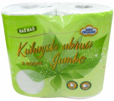 UBRUS PAPIRNI JUMBO 2SL  2/1 BAS BAS