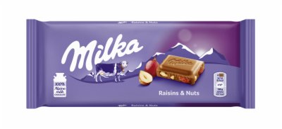 COK.RAISIN&NUTS 100G MILKA