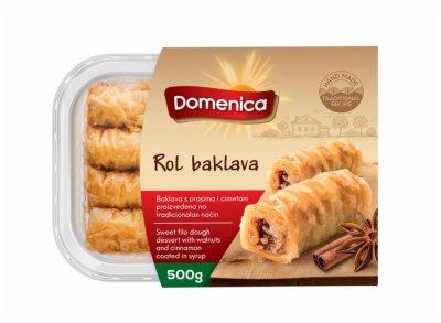 KOLAC ROLL BAKLAVA 500G DOMENICA