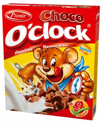 CORN FLAKES CHOCO O CLOCK 200G PIONIR