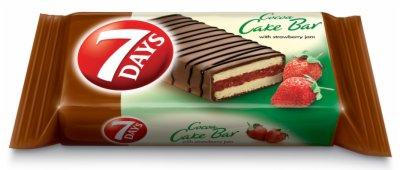 CAKE BAR COCOA STRAWBERRY 32G 7 DAYS
