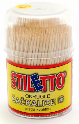 CACKALICE DRVENE OKRUGLE 500/1 STILETTO