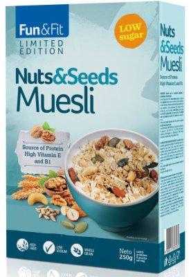 MUSLI NUTS & SEEDS 250G FLORIDA BEL